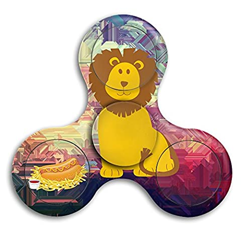 Fidget Spinner Toy - Colorful Animal Lion Stress Relief Hand Spinner And Spinning Fidget - Perfect For ADD, ADHD, Anxiety, And Autism Adult (The Lion King 3d Blu Ray)