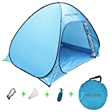 Cheap Outdoor Automatic Pop up Instant Portable Beach Tent 2-3 Person Anti UV Beach Tent Beach Shelter (Blue)
