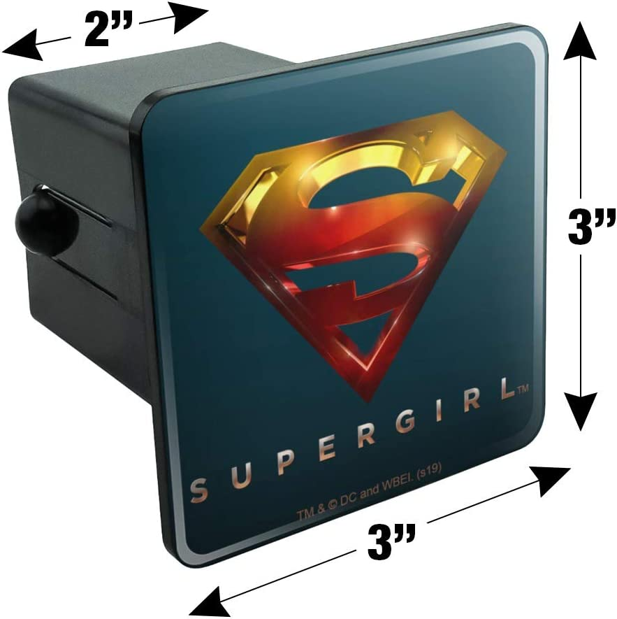 Graphics and More Supergirl TV Series Logo Oval Tow Trailer Hitch Cover Plug Insert
