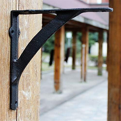 金属棚 サポート コーナ ホーム&ガーデンのための鋳鉄シェルフブラケットレトロなデザインキッチンリビングスペース 三角固定サポート (色 : As shown, Size : 20x20x4cm)