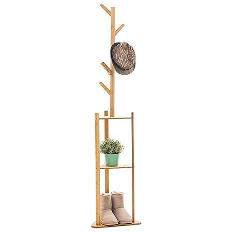 Yimaojia MEIDUO Perchero de bambú para árbol, Ropa, Sombrero ...
