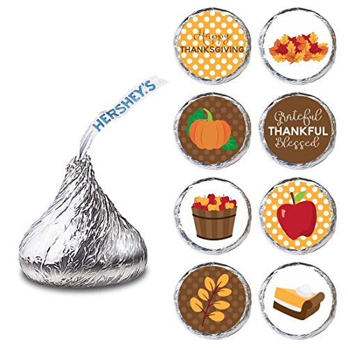 Thanksgiving Label for HERSHEY'S KISSES® chocolates - Autumn Fall Holiday Candy Sticker - Set of 240
