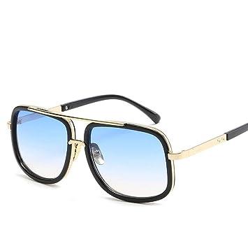 ZRTYJ Gafas de Sol de Gran tamaño Hombres Gafas de Sol ...