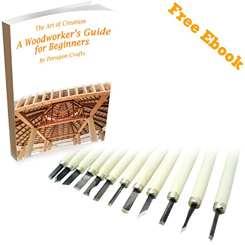 12 Pack Wood Carving Tools Linoleum Cutter Set with Sturdy Wood Handle. A Must Have Professional Quality Assorted Tool Set For woodcarving Cutting Linoleum Whittling Gouging Grinding Joinery Crafts Arts Sculpture House Printmaking Burin cabinet Furniture Making Parting Marking Metal (Gb1 Lens)