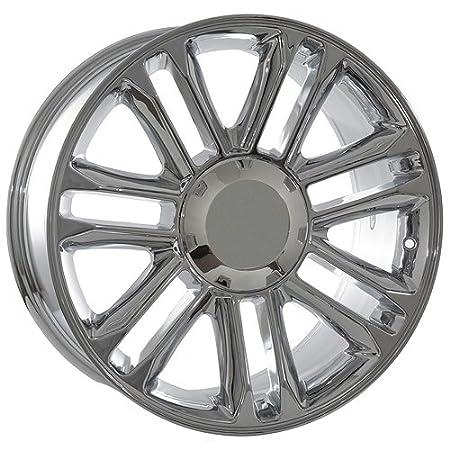 Amazon Com Chrome 20 Inch Rims For Cadillac Escalade Hybrid Ext Esv