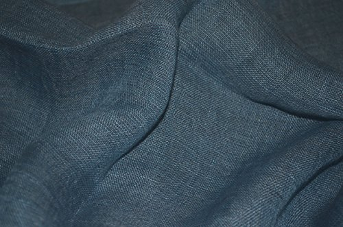 Hand Spun, Handwoven Shorty Weave Pure Linen Fabric Triple Stripe edge Scarf. X1425 by Exclusive Handcrafts (Image #2)