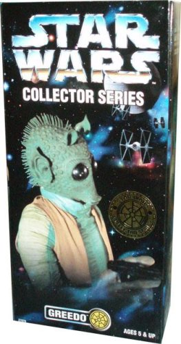 Kenner Year 1997 Star Wars Collector Series 12 Inch Tall Fully Poseable Figure with Authentically Styled Outfit and Accessories - GREEDO with Blaster Pistol