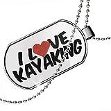 Dogtag I Love Kayaking Dog tags necklace