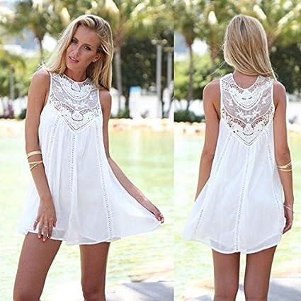 Vestido blanco fiesta de noche