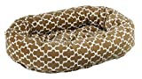 Bowsers Donut Dog Bed, Microvelvet Cedar Lattice, Large 42″ For Sale