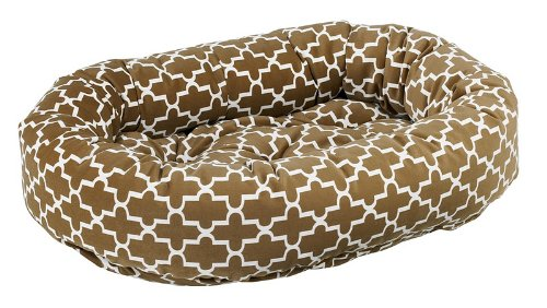 Bowsers Donut Dog Bed, Microvelvet Cedar Lattice, X-Small 22