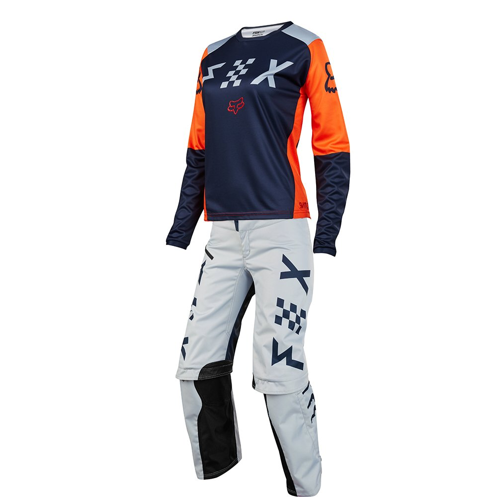 Fox Racing Womens Switch Grey & Orange Jersey/ Pant Combo - Size LARGE/ 8W