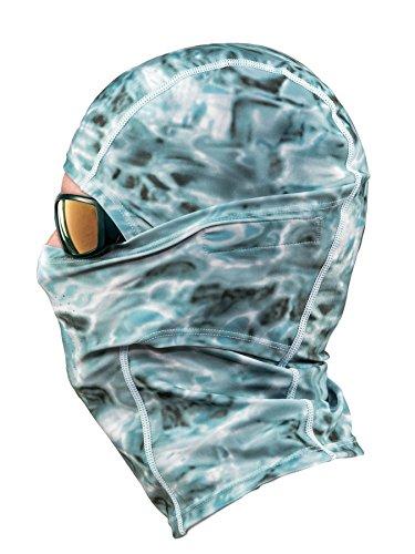 Aqua Design: Cool Weather Mens Face Mask UPF50+ Sun Wind Helmet Liner Balaclava: Aqua Sky by Aqua Design (Image #2)