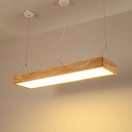 LLW-Lámparas Colgantes de Madera Lámpara de péndulo LED Luz ...