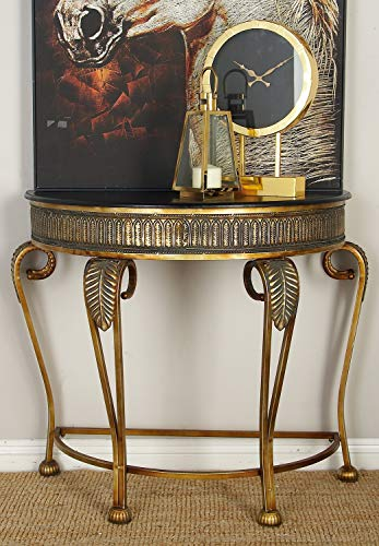 Deco 79 Metal Console Table, 41 by 33-Inch (Painted Small Console Table)