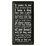 Every Dog Takes A Piece Of My Heart Wall Sign