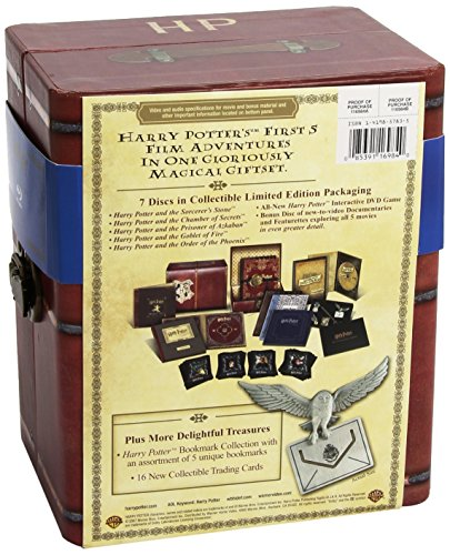 Warner home video harry potter years 1-5 blu-ray