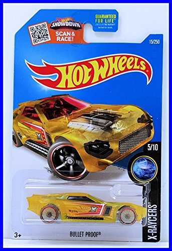 Hot Wheels, 2016 X-Raycers, Bullet Proof [Translucent Yellow] Die-Cast Vehicle #15/250 ()