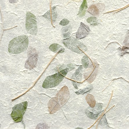 Falling Leaves Paper- Green and Brown 22