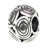 Beads Hunter 925 Sterling Silver Swirls Charm For European Bracelet