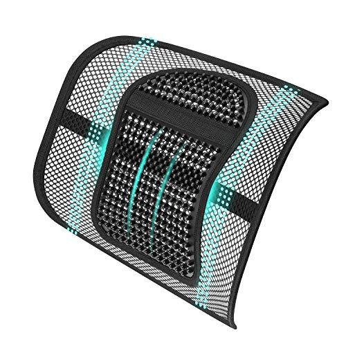ASTOTSELL - Soporte lumbar para silla de oficina, respaldo de malla, apoyo lumbar para la parte inferior de la espalda para mujeres y hombres, silla de oficina, asiento de coche, hogar