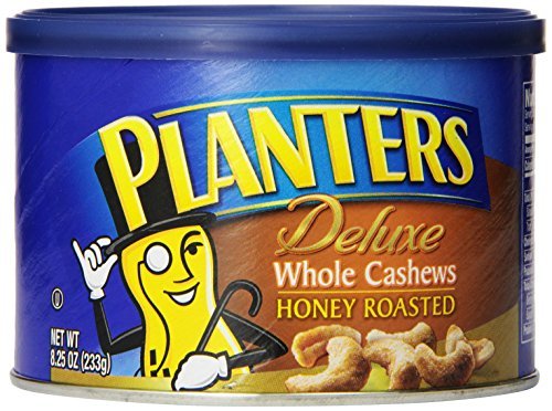 Planters Deluxe Honey Roasted Whole Cashews (8.25 oz Canisters, Pack of 3)
