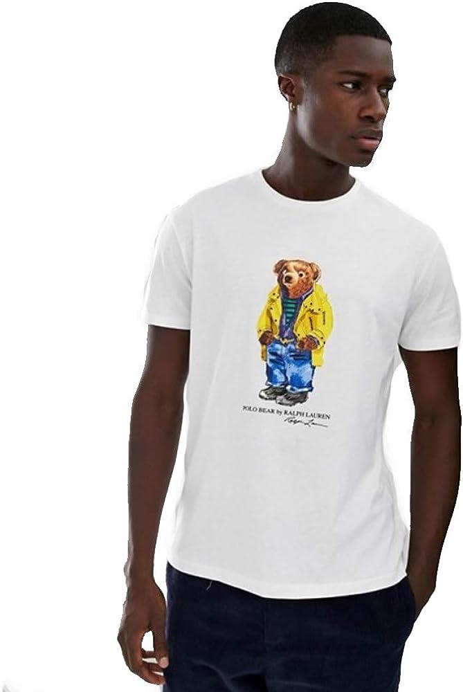Polo Ralph Lauren Camiseta Custom Slim fit Polo Bear (White, L): Amazon.es: Ropa y accesorios