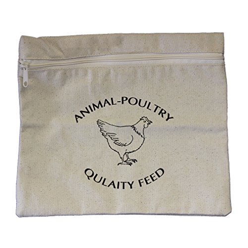 Animal Poultry Quality Feed Canvas Zippered Pouch Makeup Bag by Style in Print