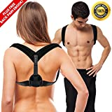 PLYO TEC Premium Back Support Posture Corrector Brace Trainer for Men & Women, Providing Relief from Neck Pain, Back Pain, Shoulder Pain & Bad Posture