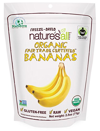 Organic Dried Banana (Natierra Nature's All Foods Organic Freeze-Dried Bananas, 2.5 Ounce)