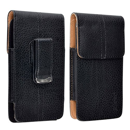 Insten Vertical Leather Case Compatible with Apple iPhone 6 (4.7), Black/ (Ford Mobile Ease)