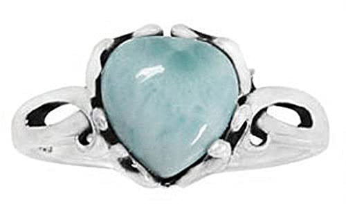 Sterling Silver Ring with Larimar BTS-NRB3304 LR R
