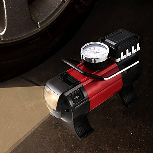 Cosway Portable Electric Tire Inflator, Air Pump with Pressure Gauge, 150 PSI 12V 168W Compressor for Various Automobile Tires and Inflating Equipment by Cosway (Image #6)