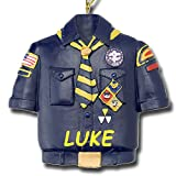 Personalized Boy Scouts of America Cub Scout Blue Shirt Uniform Christmas Ornament with Name