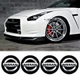 EdwardSmithCarsTM 4 x 55mm Diameter NISSAN Wheel Center Cap Sticker Emblem Self Adhesive For Flat Surfaces Cheap Price