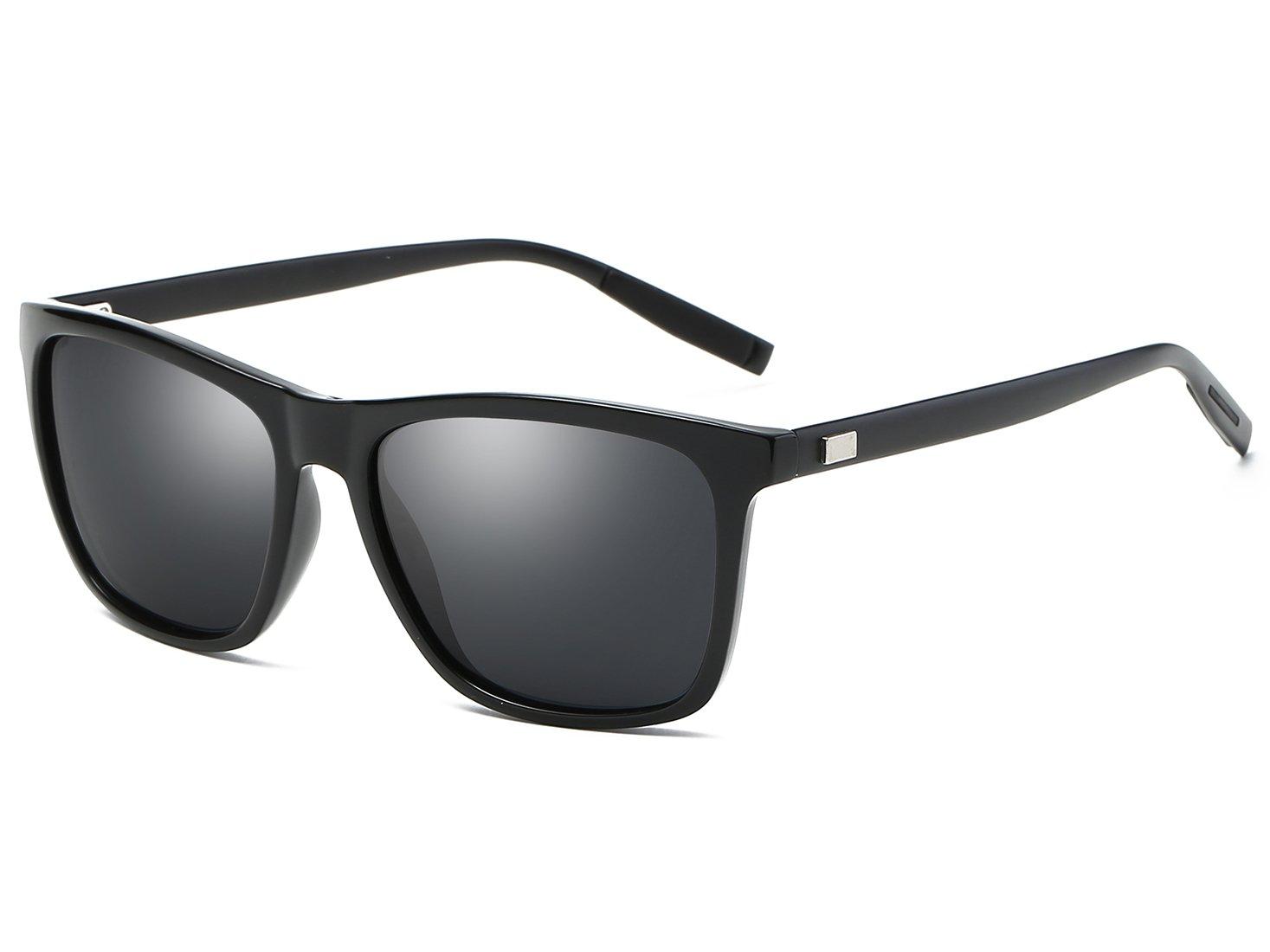 Bevi Unisex Polarized Sunglasses Wayfarer UV400 Brand Designer Sun glasses 0733C1BKG15