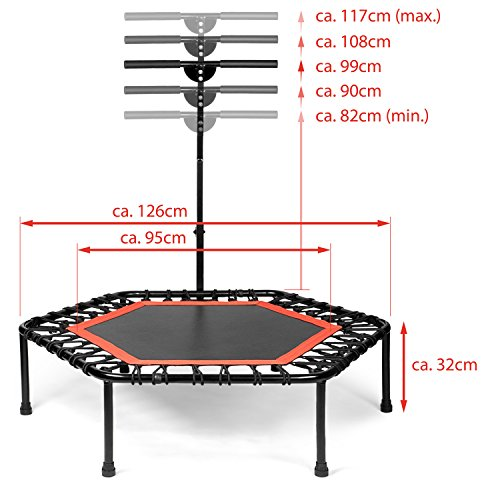 Jumpsport Handle Bar For Trampolines: Sportplus Silent Fitness Mini Trampoline With Adjustable