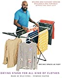 CELEBRATIONS Steel Cloth Drying Stand - Sturdy and Sleek Cloth Dryer Stand for Drying All Kinds of Attires - Made in India