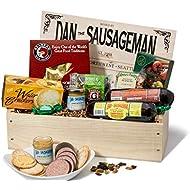 Dan the Sausageman's Favorite Gourmet Gift Basket -Featuring Dan's Original Sausage, Seabear Salmon, 100% Wisconsin Cheeses, and Dan's Sweet Hot Mustard