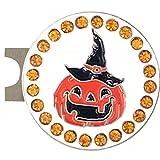 #8: Giggle Golf Bling Pumpkin Golf Ball Marker with A Standard Hat Clip