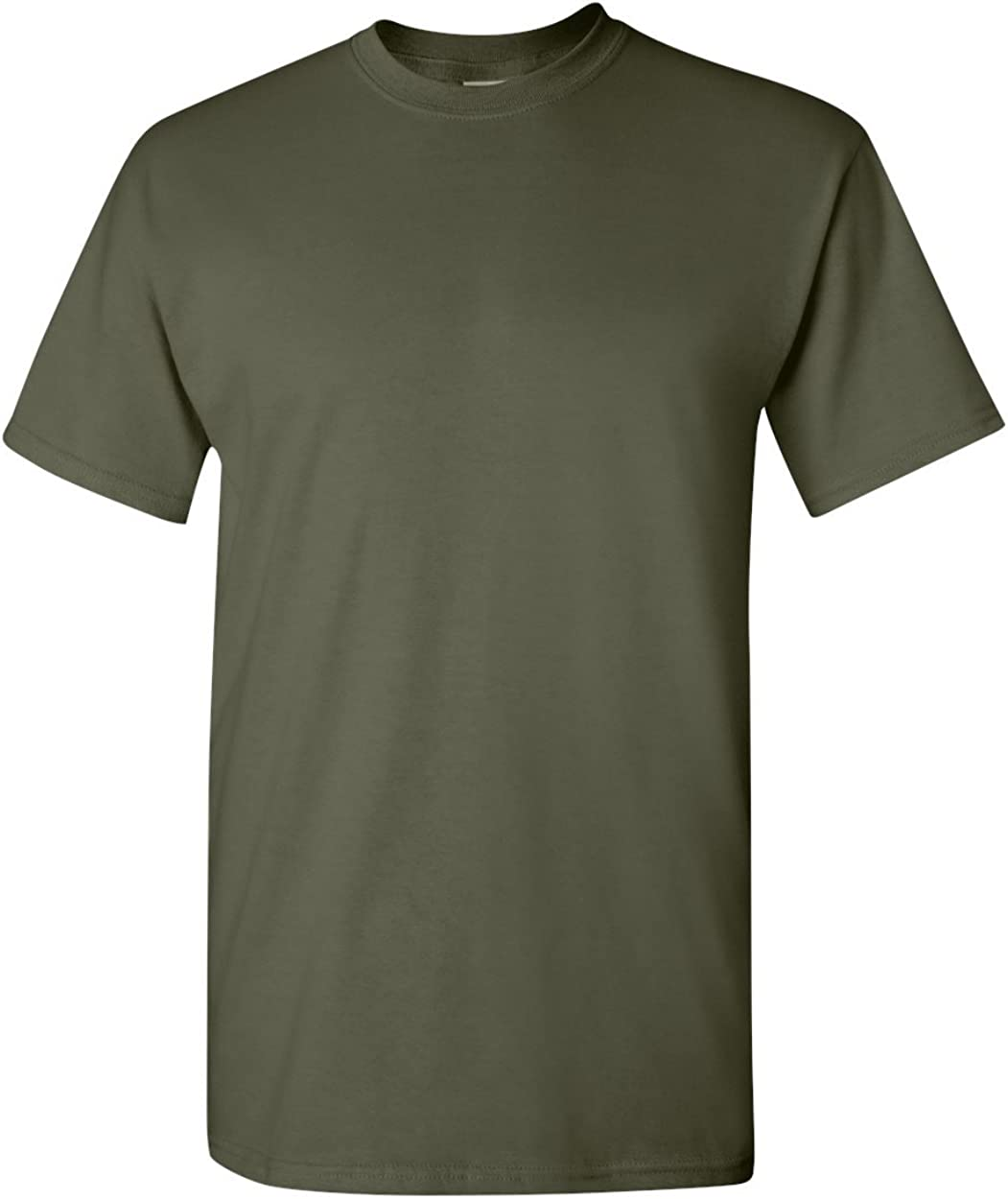 Gildan 5.3oz Heavy Cotton Short Sleeve T-Shirt, Military Green, Large