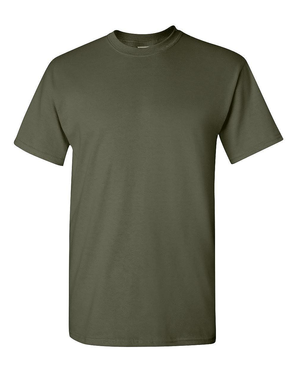 Military Green Gildan Heavy Cotton T-Shirt XXX-Large