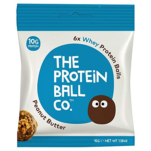 The Protein Ball Co. Peanut Butter - All Natural | Gluten Free | Low Carb | Healthy Snack | High Protein | Vegetarian | No Added Sugar | Non GMO | 10 Pack (Best Tasting Protein Balls)
