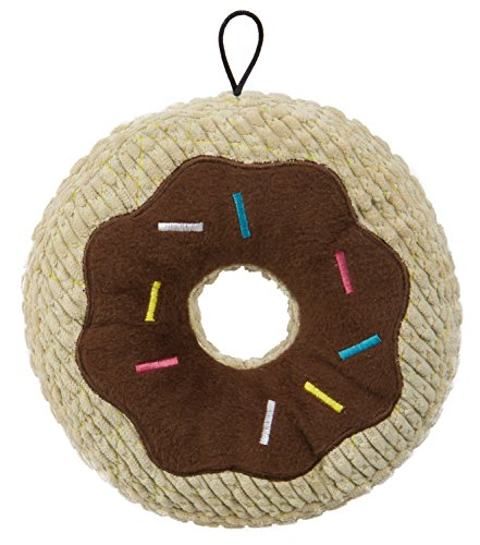 TrustyPup Chocolate Donut Plush Dog Toy with Silent (Donut Dog Toy)