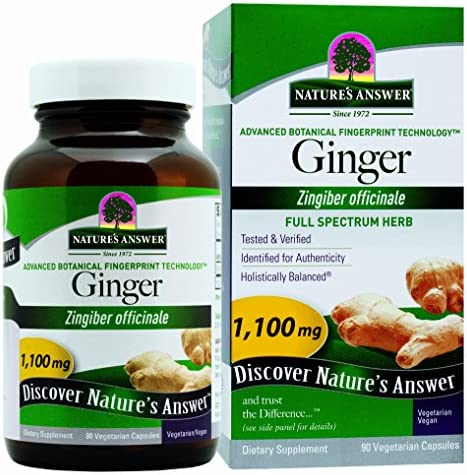 Nature s Answer Ginger Rhizome, 90-Count