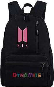 ATERAIN Kpop Dynamite Backpack Daypack Laptop Bag College Bag Jungkook Jimin V Suga School Bag