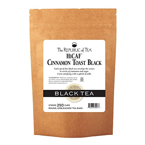 The Republic of Tea HiCAF Cinnamon Toast Black Tea, 250 Tea Bags, Premium Blended High-Caffeine Black Tea