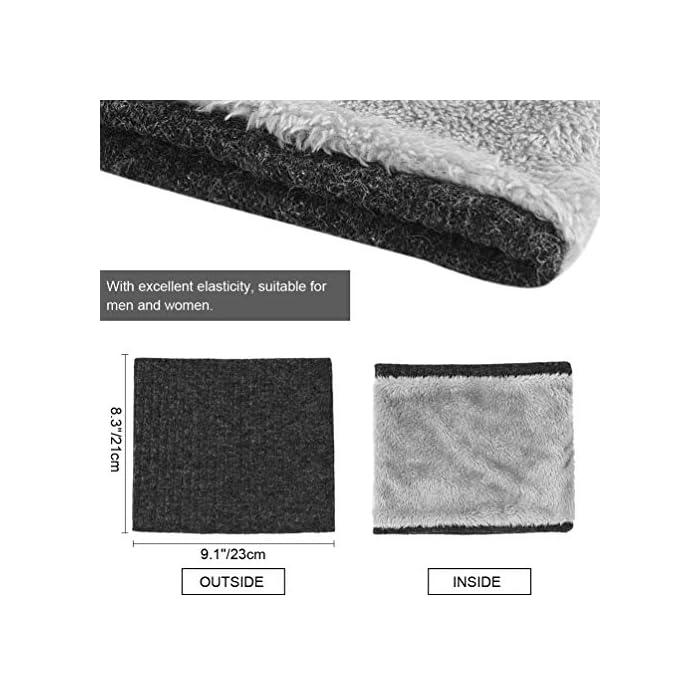 51RVaJ ZeuL Thickkened Knitting- el rendimiento ultra suave, cómodo y exquisito te sorprenderá. Y no producirá pilling ni se soltará después de su uso. Keep You Warm- El fino forro de felpa es útil para mantener el calor en el cuello, la cara, las orejas y la cabeza en días fríos. fibras acrílicas y felpa