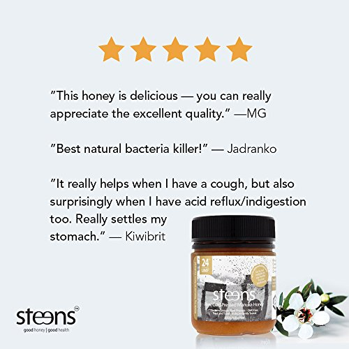 Steens Manuka Honey UMF 24 (MGO 1122) 17.6 Ounce jar   Pure Raw Unpasteurized Honey From New Zealand NZ   Traceability Code on Each Label by Steens (Image #4)