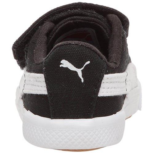 Puma Benecio Canvas V Kids 351507 Unisex - Kinder Sneaker Schwarz / Weiß